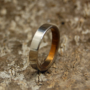 Slim, Sleek and Bronze | Handcrafted Titanium Wedding Bands