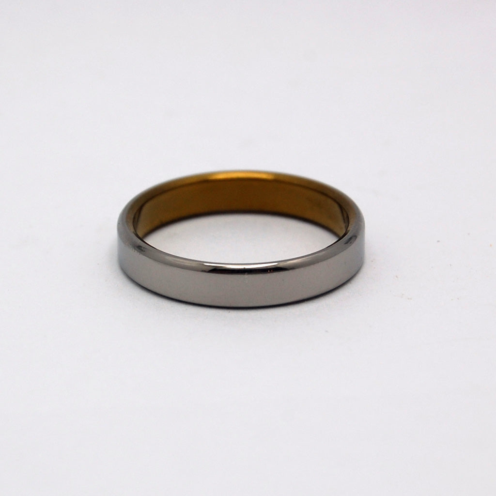 SLIM SLEEK BRONZE ROUNDED | Anodized Titanium - Unique Wedding Rings - Minter and Richter Designs