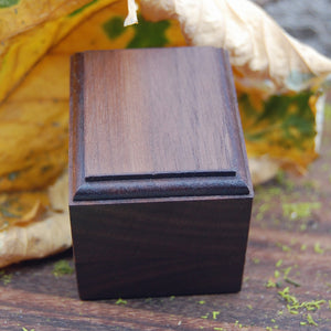Wedding Ring Box  - Black Walnut Wood 1 Ring Box - Minter and Richter Designs