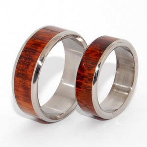 TEMPTED | Snake Wood & Titanium Wedding Rings - Wooden Wedding Rings set - Minter and Richter Designs