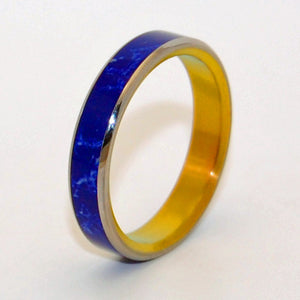 HEART OF STARS |  Sodalite Stone - Unique Wedding Rings - Blue Wedding Rings - Minter and Richter Designs