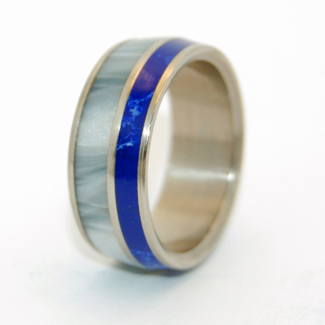 We'll Always Be | Stone Titanium Wedding Ring - Minter and Richter Designs