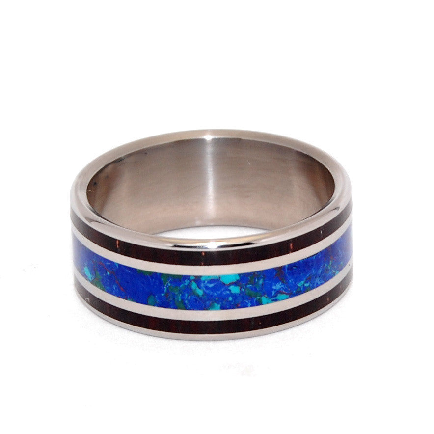 You Are My Most Rational Thought | Stone and Horn Titanium Wedding Ring - Minter and Richter Designs