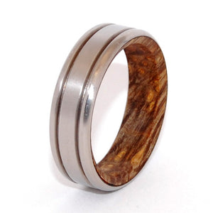 Unfurl | Handcrafted Wood and Titanium Wedding Ring - Minter and Richter Designs