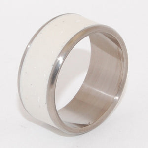 Cloud Dreams | Italian Marble Ring - Unique Wedding Ring - Titanium Ring - Minter and Richter Designs
