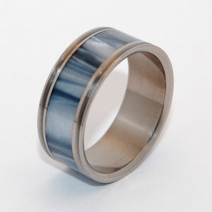 Astaire Pinstriped | Handcrafted Titanium Wedding Ring