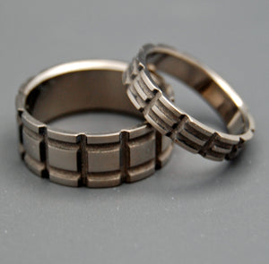 STARKILLER INSPIRED | Made for Blade Runner 2049 Movie - Titanium Wedding Rings Set - Minter and Richter Designs