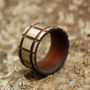 STAR KILLER | Titanium & Simulated Rust Wedding Rings - Minter and Richter Designs