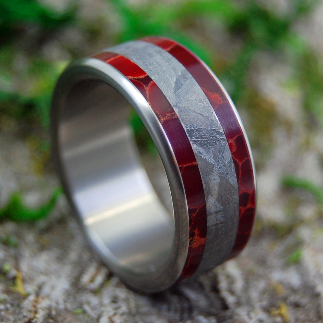 Meteorite Wedding Rings - Custom Mens Rings - Meteorite Rings | STELLAR FIRES