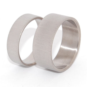 Straight Up | His and Hers Matching Titanium Wedding Band Set - Minter and Richter Designs