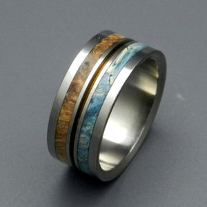 HEAVEN ON EARTH |  Golden Box Elder Wood - Unique Wedding Rings - Minter and Richter Designs