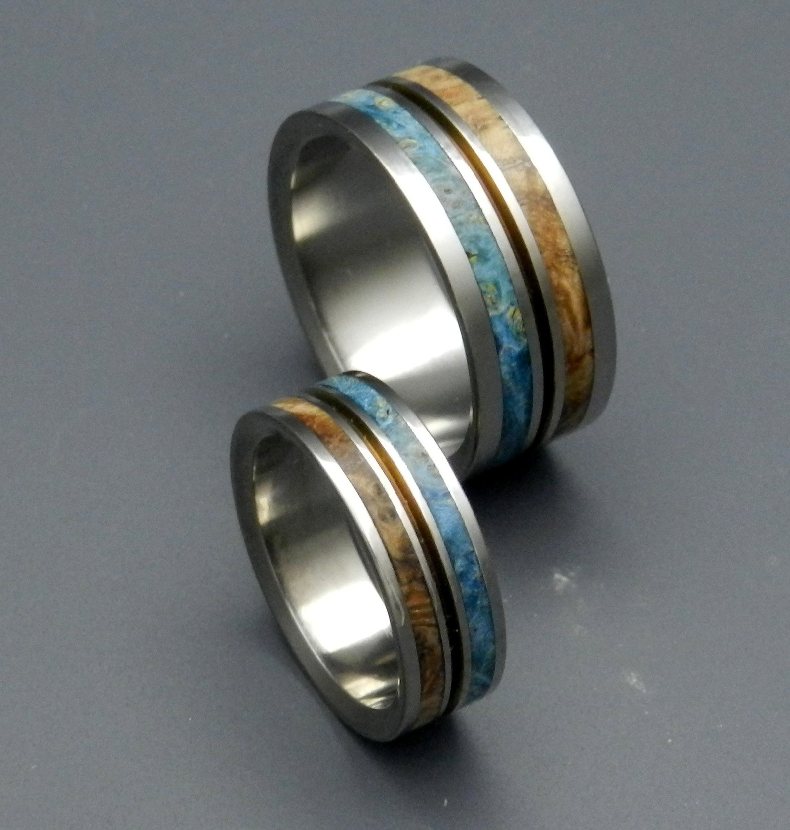 minter richter wooden wedding rings earth rings minter and