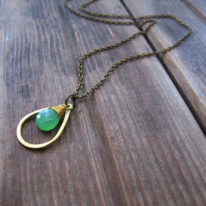 Sundrop Chrysophase Necklace