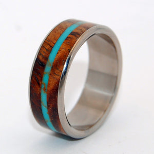 Men's Wedding Rings - Wooden Wedding Rings - Turquoise Rings | SURF SHREDDER