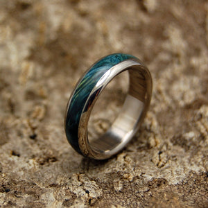 Te Amo | Titanium Wooden Wedding Bands