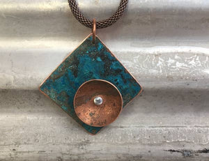 COPPER jewelry - Necklace | THE DISC NECKLACE - Minter and Richter Designs