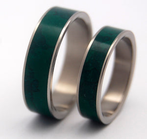 IMPERIAL JADE | Jade Stone & Titanium - Unique Wedding Rings - Wedding Rings Set - Minter and Richter Designs