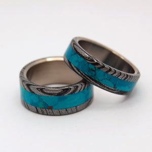 THOR GREEK GOD | M3 & Stone Titanium Wedding Rings Set - Minter and Richter Designs