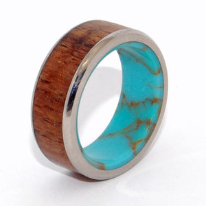 Let There Be a Firmament | Tibetan Turquoise Wedding Ring
