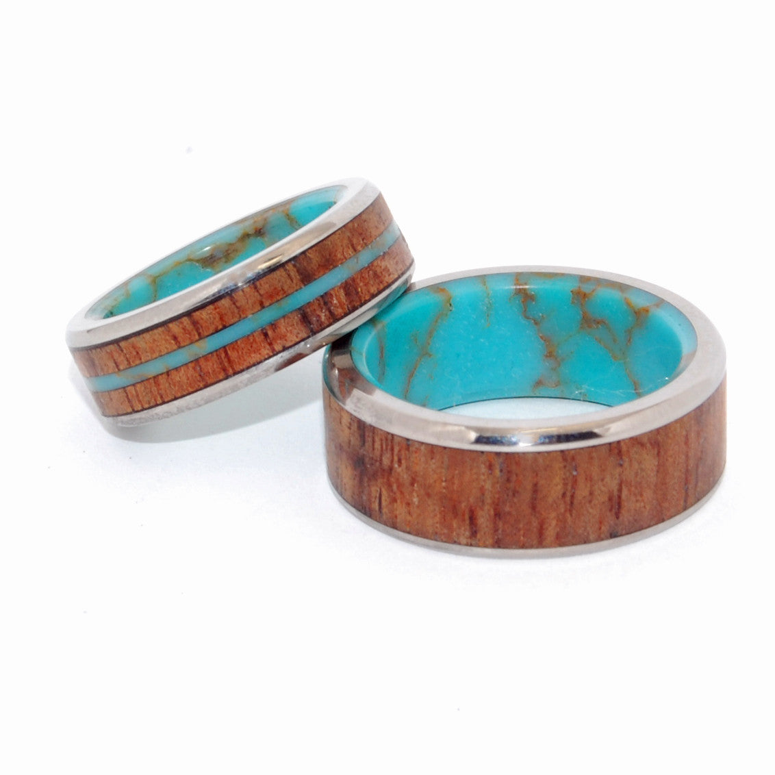 Let There Be a Firmament in the Midst of the Waters | Tibetan Turquoise Wedding Rings