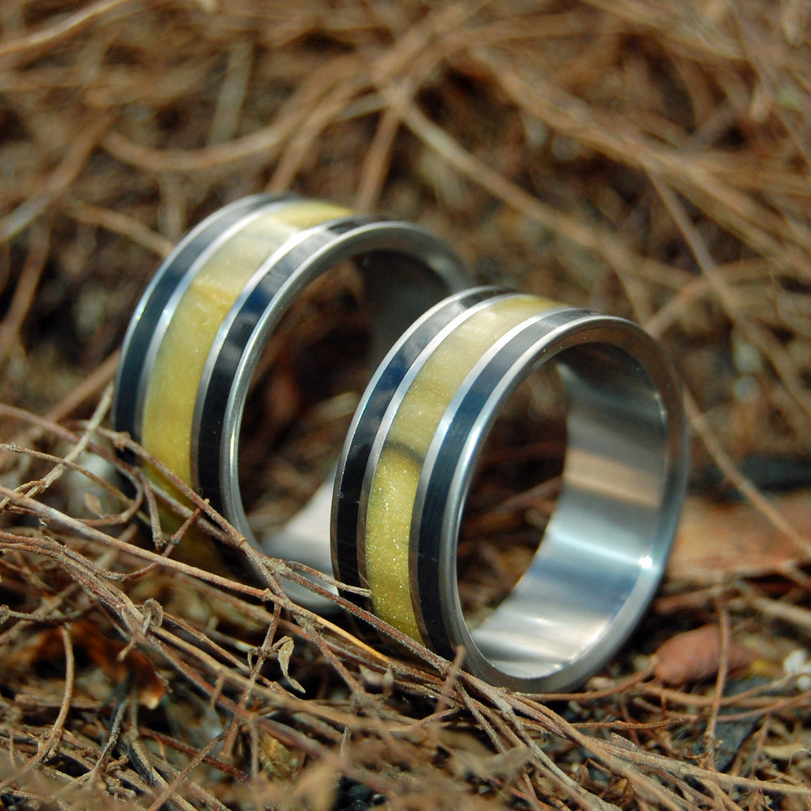 Our Summit | Stone and Titanium Wedding Bands