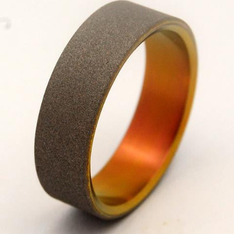 PRIS | Blade Runner 2049 - Anodized Titanium - Unique Wedding Rings - Minter and Richter Designs