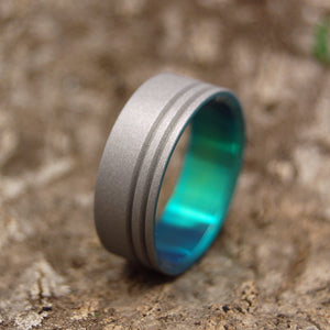 Men's Titanium Rings - Handcrafted Titanium Wedding Ring | TO THE FUTURE GREEN