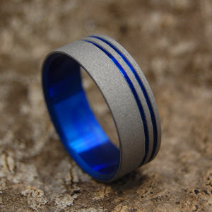 Mens Wedding Rings - Custom Mens Rings - Titanium Wedding Ring | TO THE FUTURE II
