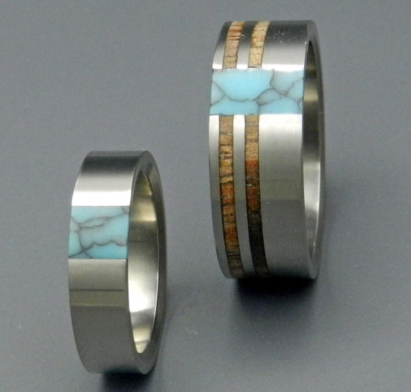 Minter Richter Titanium Rings Wooden Wedding Rings