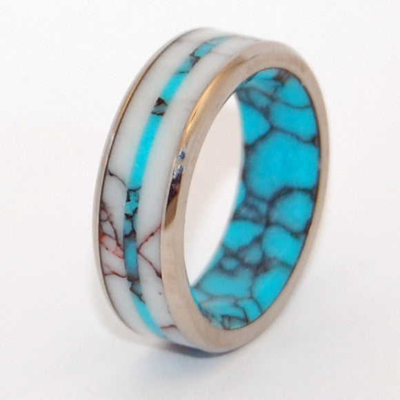 Spirit of the West | Turquoise and Titanium Wedding Ring