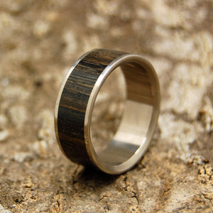 Ukrainian Bog Oak | Ancient Woods Titanium Wedding Ring - Minter and Richter Designs
