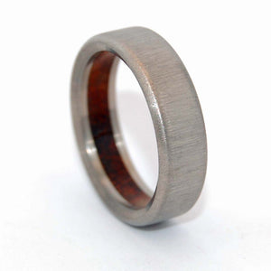 Humble Majesty Koa Vertical Stroke | Titanium Wedding Band