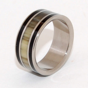 Rodeo | Horn and Titanium Wedding Ring - Minter and Richter Designs