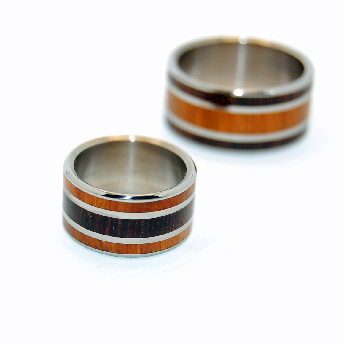 Find Me In the Wenge Woods | Ancient Woods Wedding Ring Set