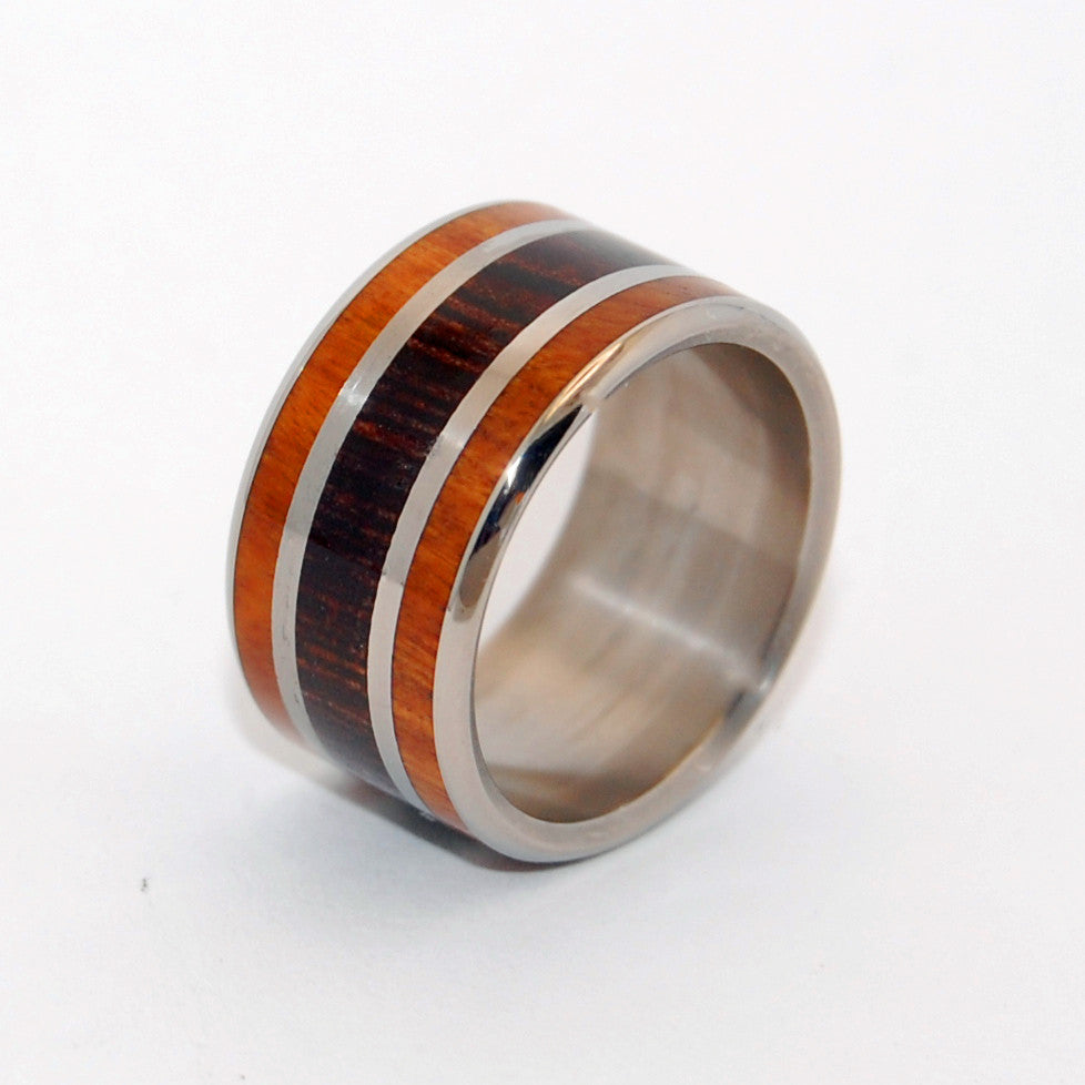 WENGE WOODS | Ancient Kauri Wood & African Ebony - Handcrafted Wooden Wedding Ring - Minter and Richter Designs