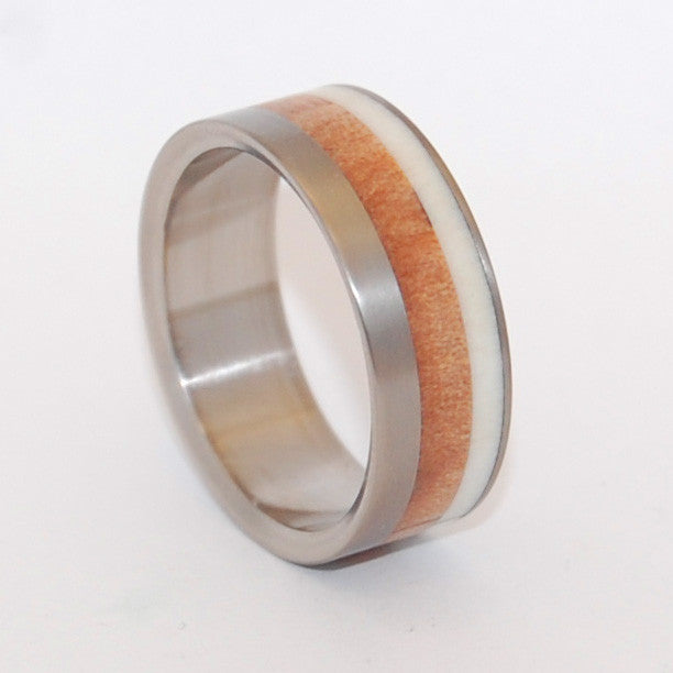 Deer in the Forest | Horn and Titanium Wedding Ring