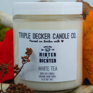 WHITE TEA CANDLE  |  Wedding Gift - Bridal Party Gift - Minter and Richter Designs