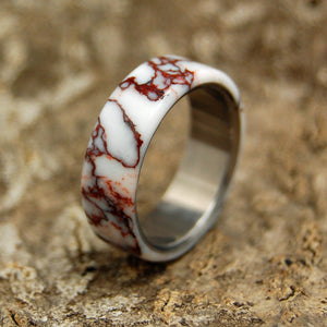 WILD HORSE | Jasper Stone & Titanium - Unique Wedding Rings - Women's Wedding Rings - Minter and Richter Designs