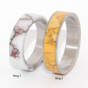 Wild Horse and Honey | His and Hers Titanium Wedding Band Set