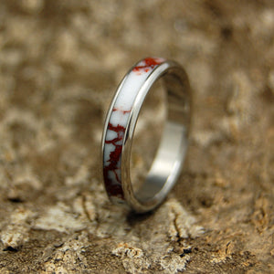 TEXAS ICE | Wild Horse Jasper Stone & Titanium Women's Wedding Rings - Minter and Richter Designs
