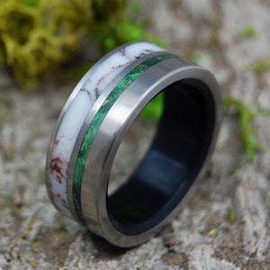 Men's Titanium Wedding Rings - Wooden Wedding Rings | PINNACLE
