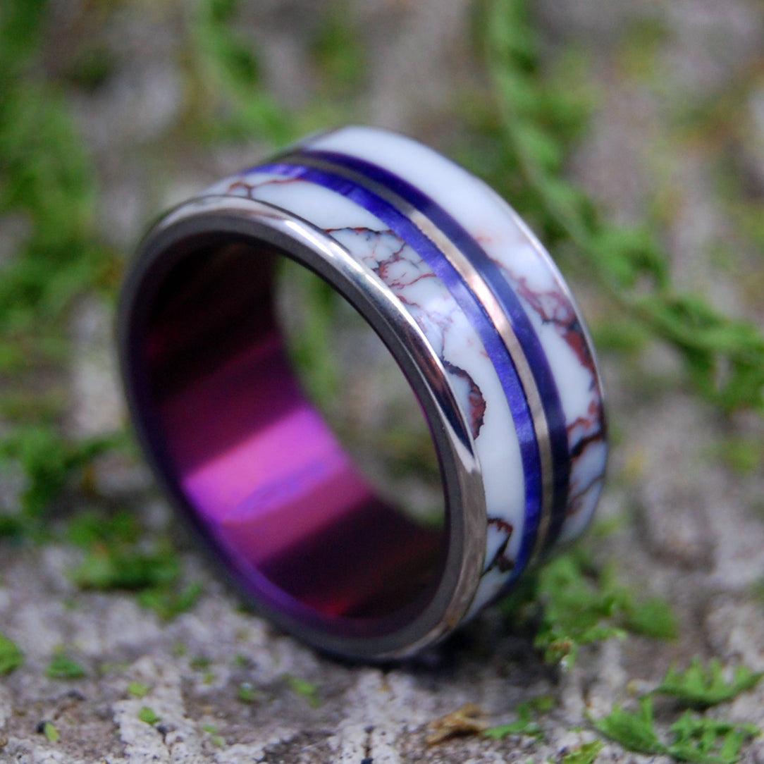 Mens Ring, Womens Ring, Stone and Titanium Wedding Ring | IN THE WILDS