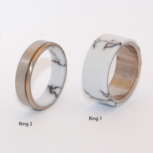 Wild Horse Running Free | Stone and Titanium Wedding Rings