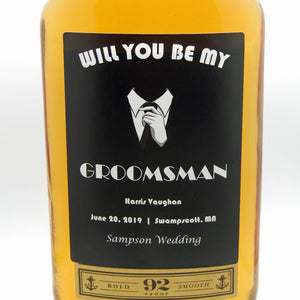 Personalized Booze Label - Groomsmen gift