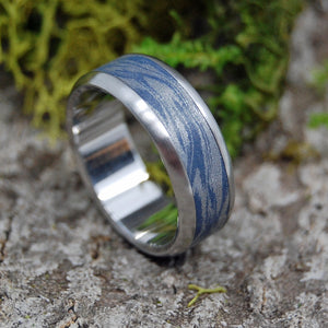 INOX BLUE KATANA | Steel & M3 Blue Wedding Ring - Minter and Richter Designs