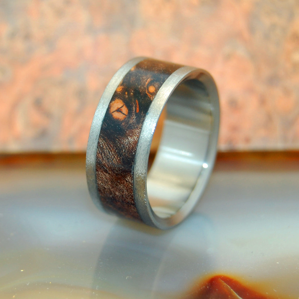 Night Flight | Maple Wood - Titanium Wedding Ring - Minter and Richter Designs