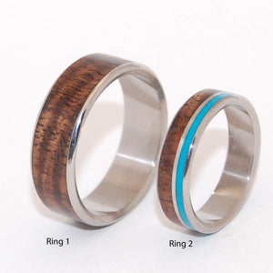 Wooded Cove and Hidden Forest | Wooden Wedding Rings