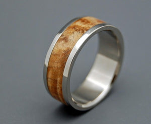 Woodstock | Wood and Titanium Wedding Ring