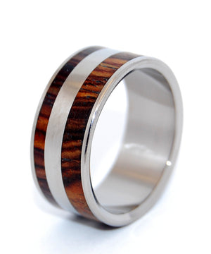 Yes Kez Sirumem | Titanium and Wood Wedding Ring - Minter and Richter Designs