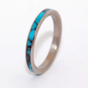 You and Me | Turquoise and Titanium Wedding Ring - Minter and Richter Designs